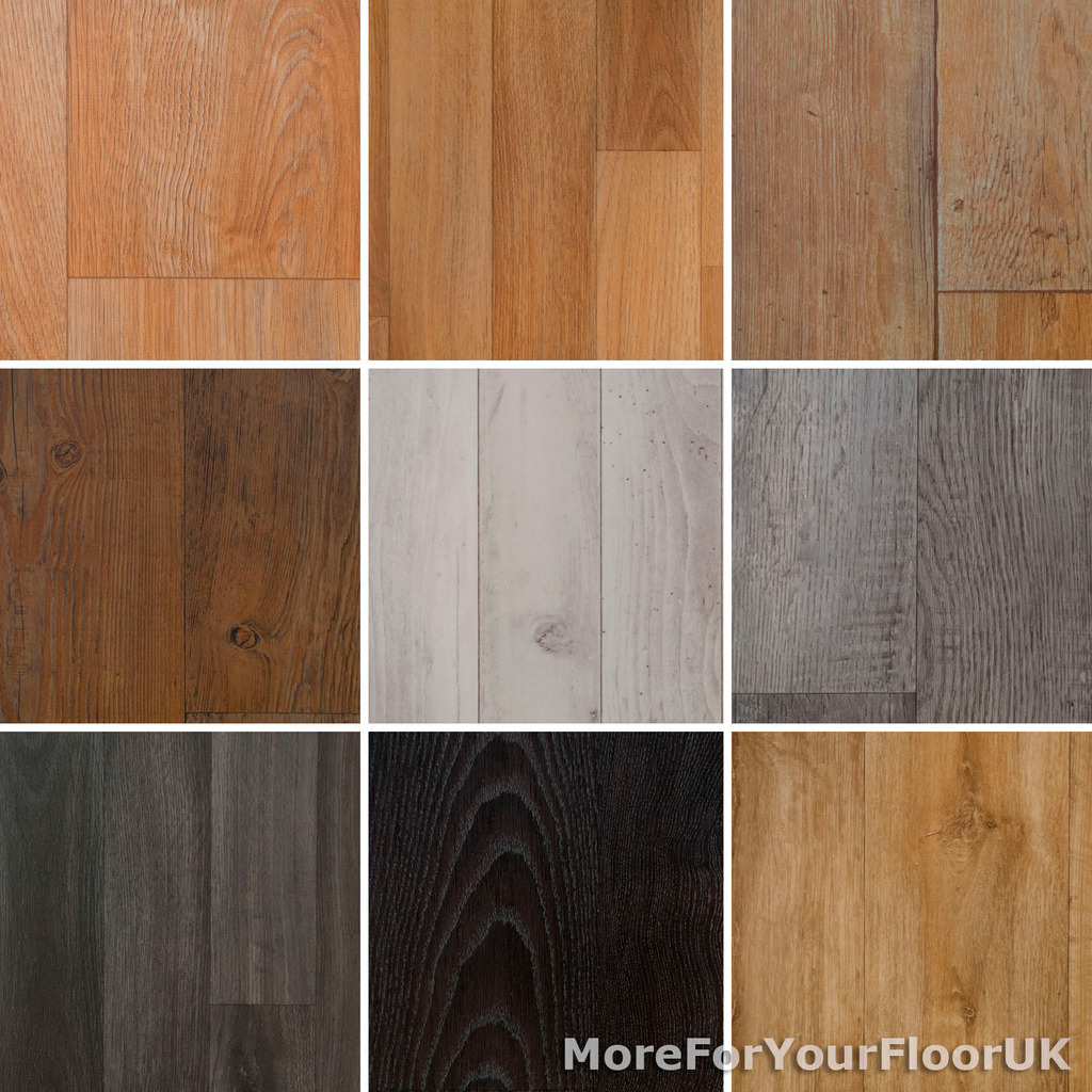 Vinyl Flooring Lino Wood Plank Roll Quality Anti-Slip Kitchen