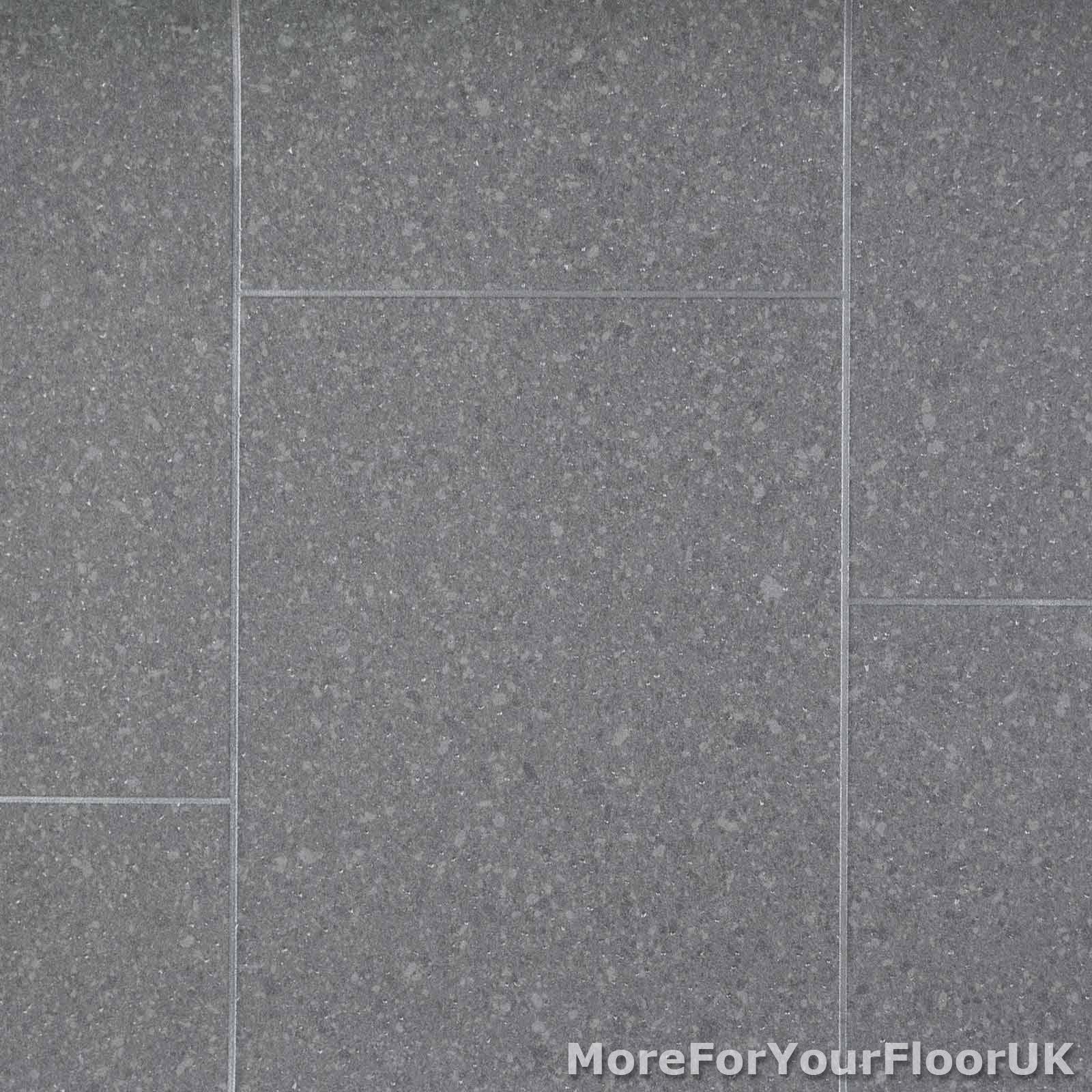 Grey Granite Tile Style Vinyl Flooring Kitchen Bathroom R10 2 3mm Lino 2m 3m 4m Ebay